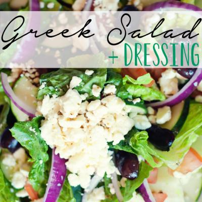 Greek Salad + Dressing Recipe