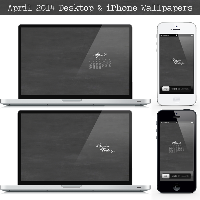April 2014 Desktop and iPhone Wallpapers by Three in Three