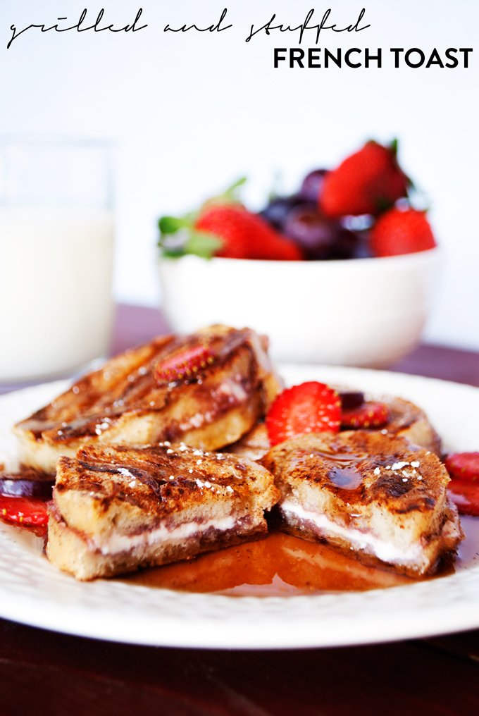 Mini Grilled and Stuffed French Toast   asimplepantry.com