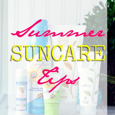 Summer Suncare Tips