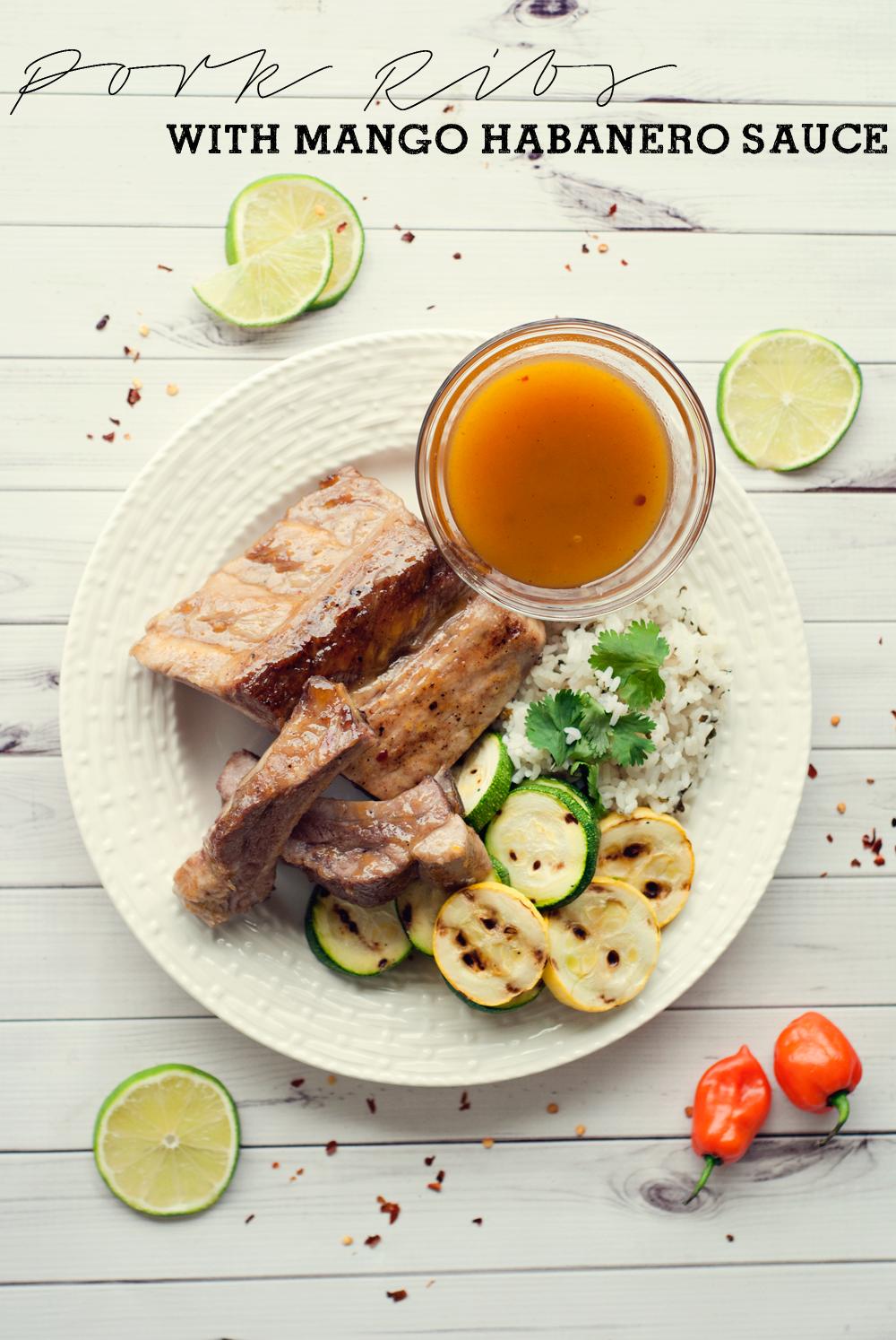 Pork Ribs with Mango Habanero Sauce