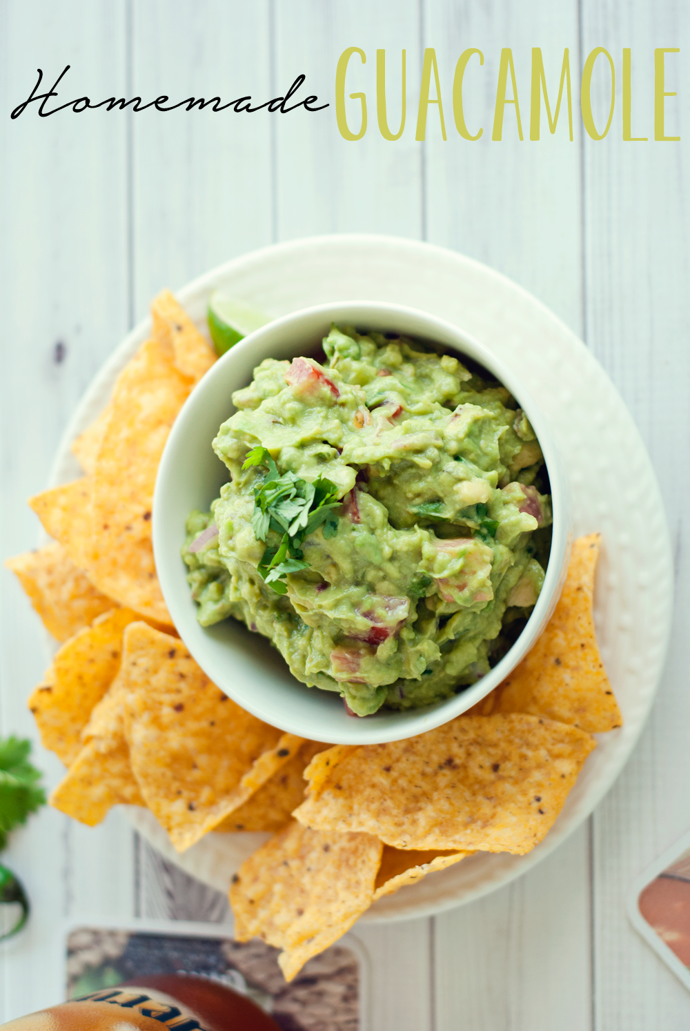 Homemade Guacamole by Three in Three #recipe #CuervoTeagarita