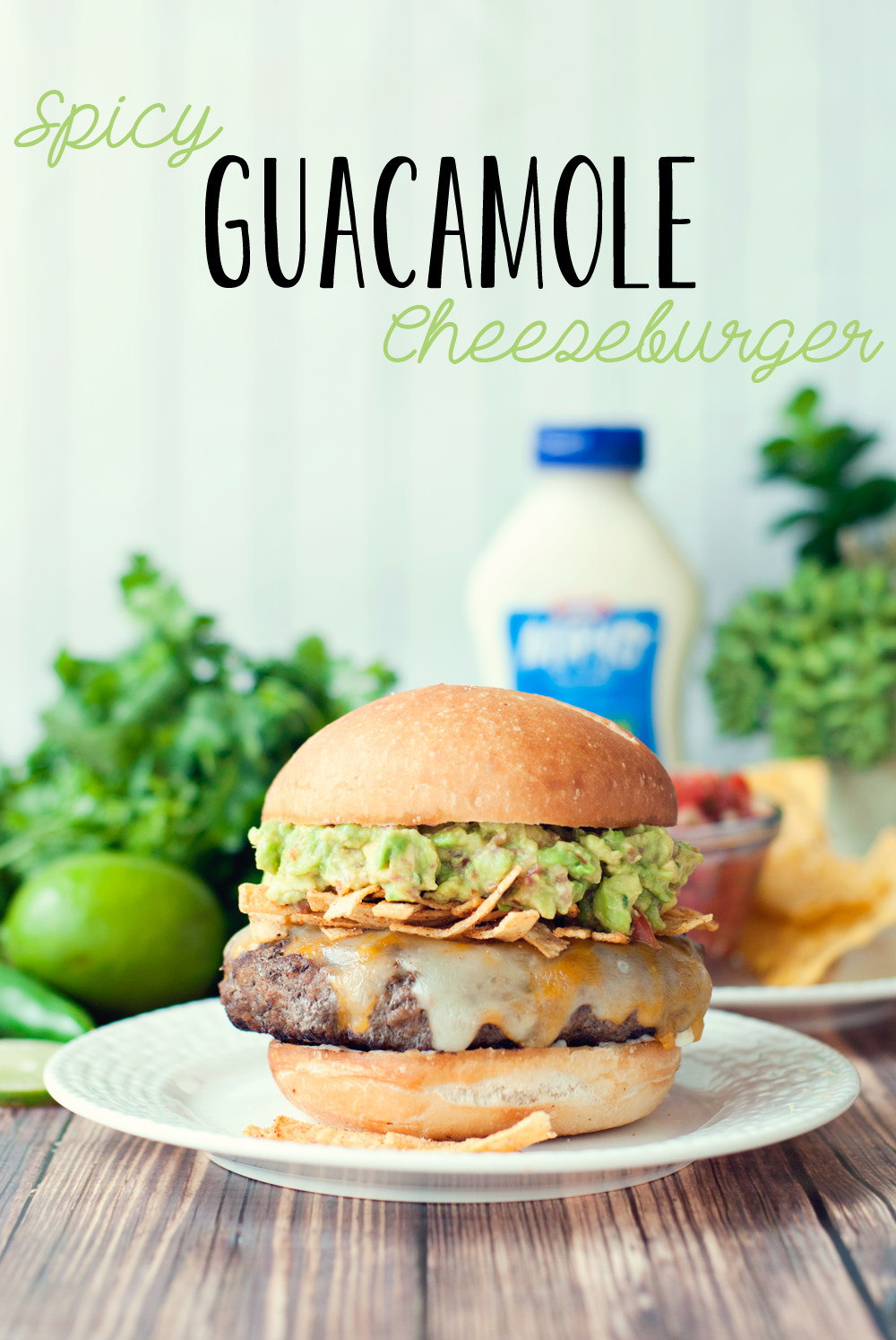 Spicy Guacamole Burger - A Simple Pantry