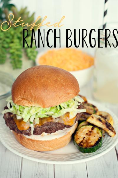 Budget Friendly Meals | Stuffed Ranch Burgers