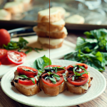 Caprese Bruschetta by Three in Three #FoodDeservesDelicious #shop #cbias
