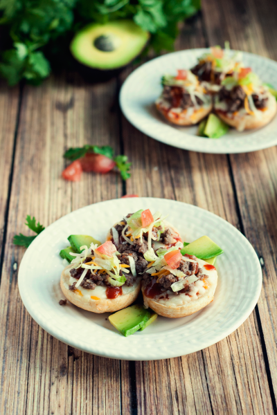 Mini Taco Pizzas After School Snacks