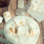 Pumpkin Spice Latte with Pumpkin Spice Marshmallows by Three in Three