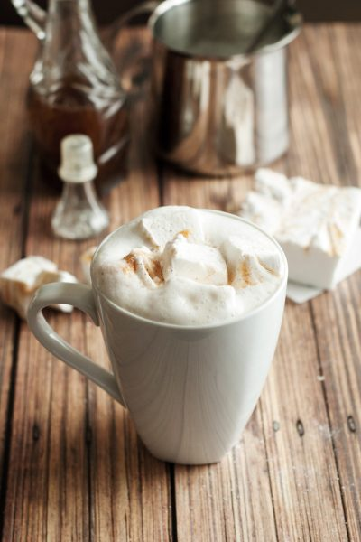 Pumpkin Spice Latte with Pumpkin Spice Marshmallows