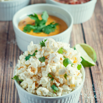 Spicy Cilantro Lime Popcorn by A Simple Pantry