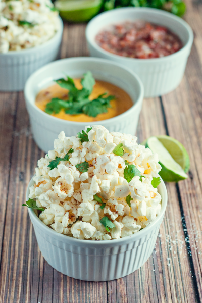 Spicy Cilantro Lime Popcorn for Snacking