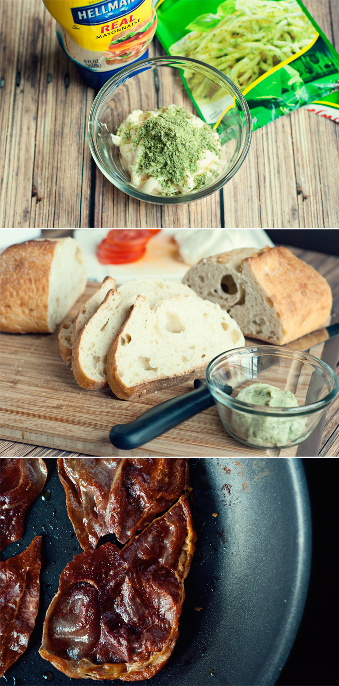 Grilled Prosciutto, Mozzarella, and Pesto Mayo by A Simple Pantry