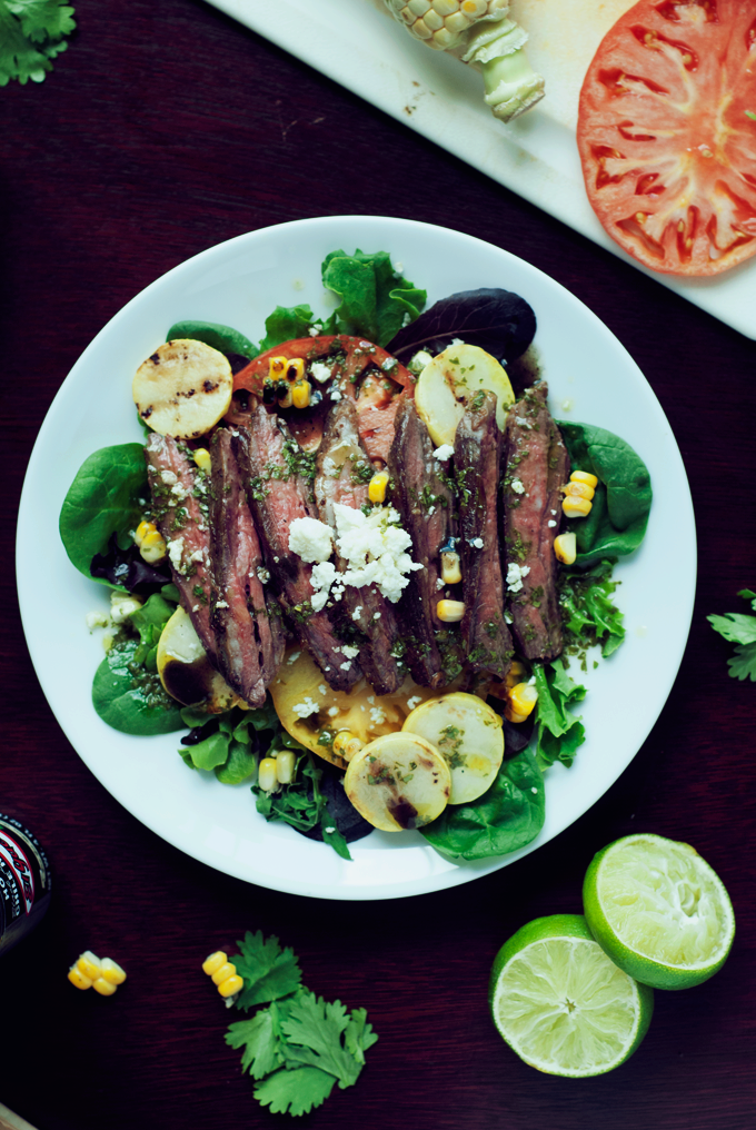 Seared Steak Salad + Cilantro Lime Vinaigrette
