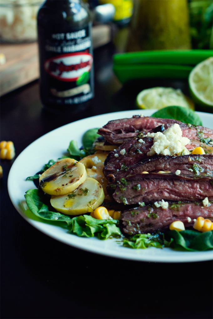 Seared Steak Salad with Cilantro Lime Vinaigrette
