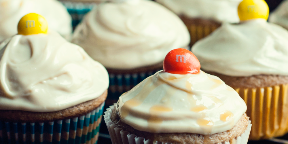 Simple Recipes: Spiced Apple Cupcakes with Caramel Cream Cheese Frosting
