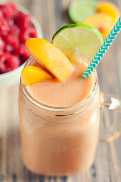 Easy Peach Raspberry Smoothie