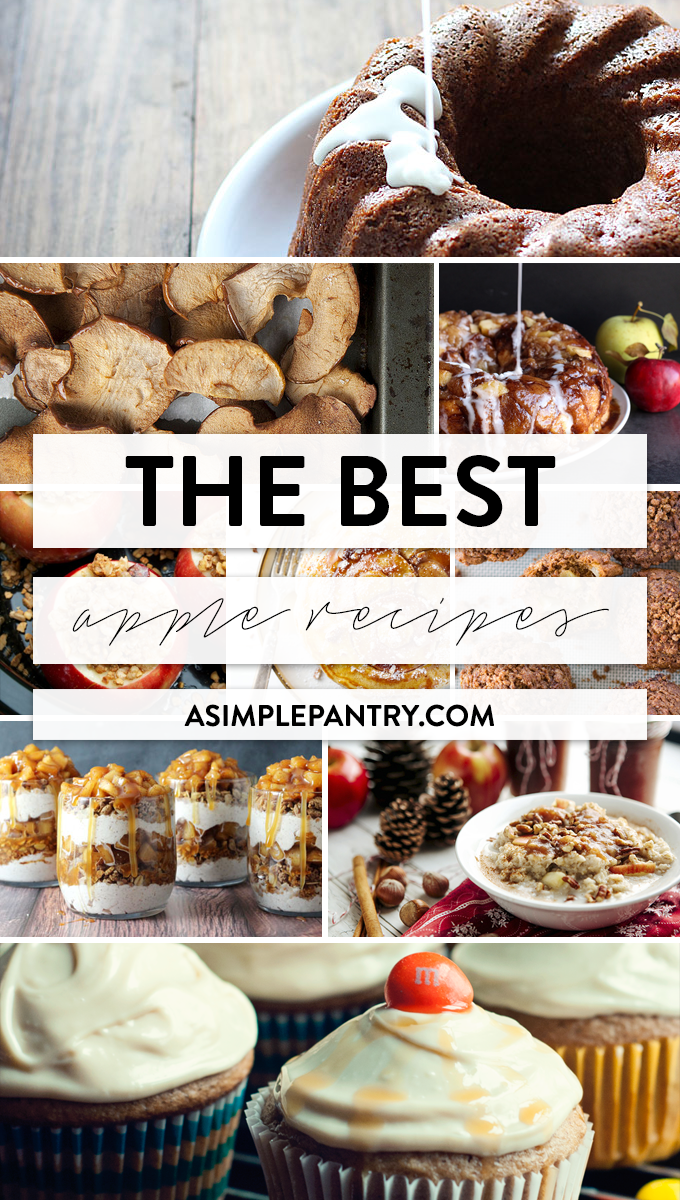 The BEST apple recipes around from your most trusted food bloggers on the interwebz! Check out all the noms!