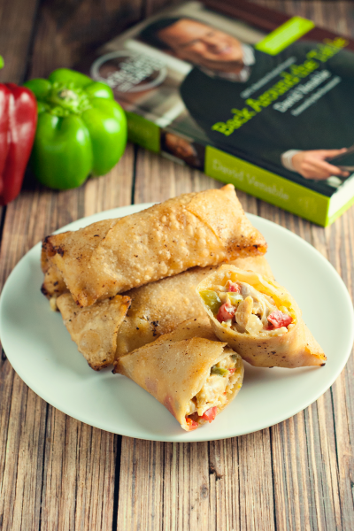 Chicken Cheesesteak Egg Rolls