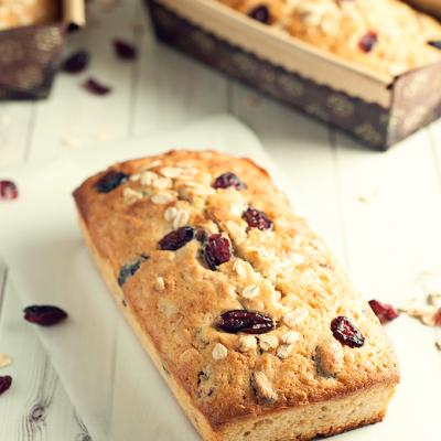 Cranberry & Oat Quick Bread