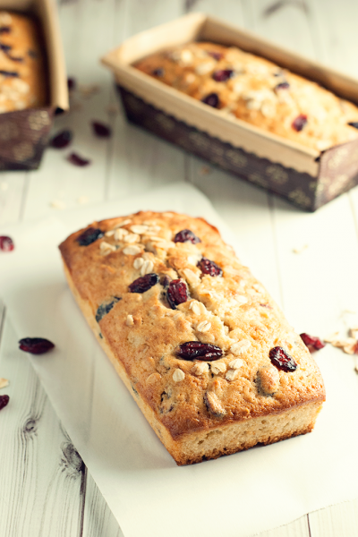 Cranberry & Oat Quick Bread