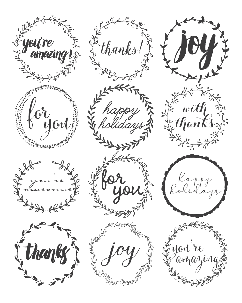 Mason Jar Topper Labels from A Simple Pantry