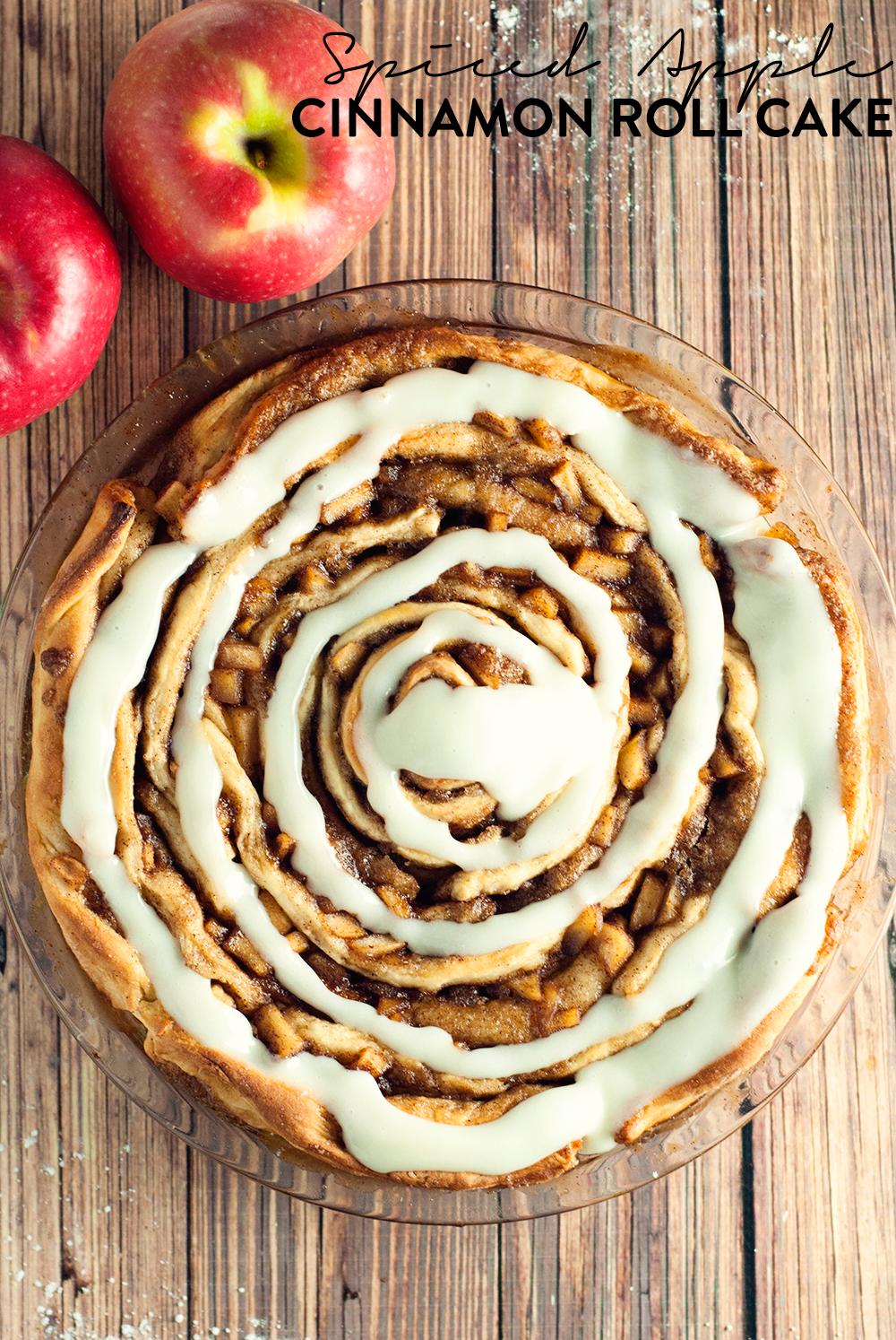 spiced apple cinnamon roll cake a simple pantry