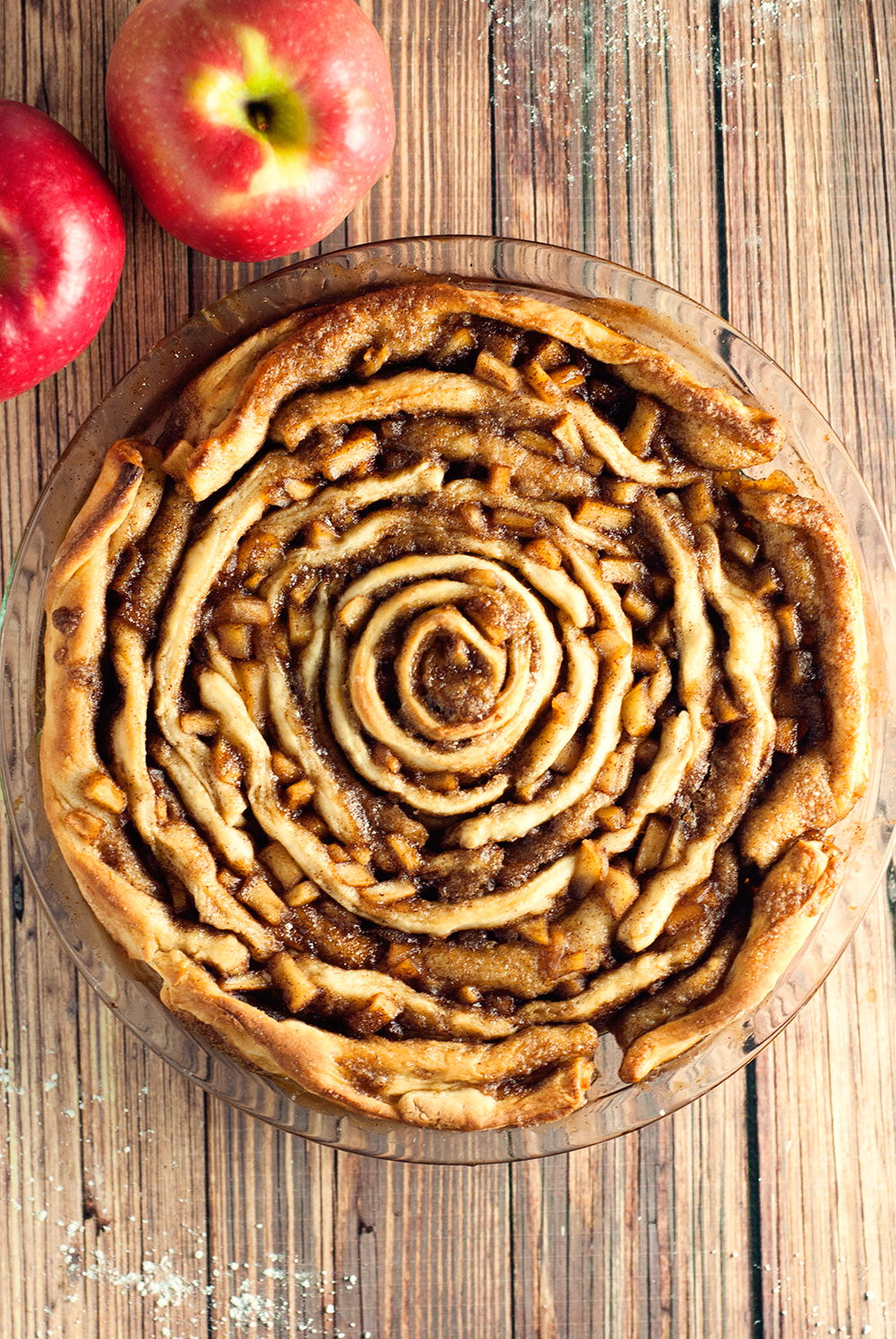 Decadently delicious, this spiced apple cinnamon roll cake with blow you away with flavor!