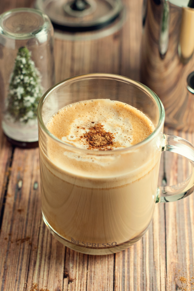 White Chocolate Eggnog Latte