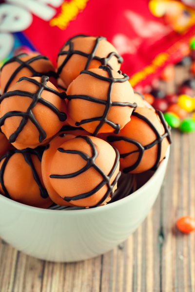 Basketball Cake Balls Recipe