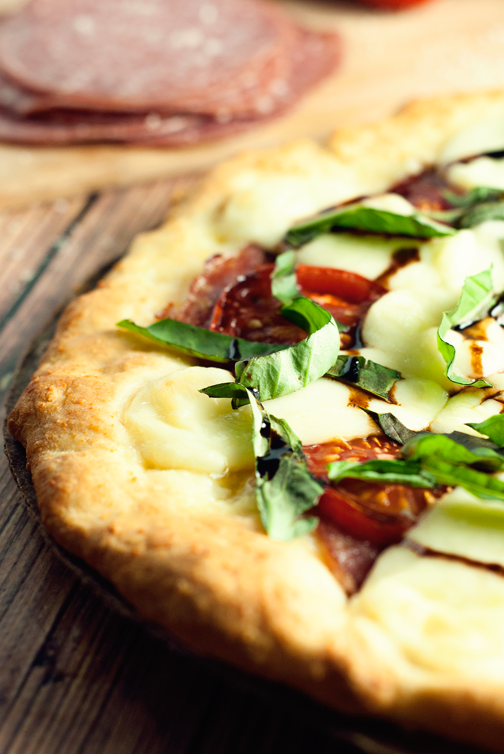 This Margherita Pizza with Salami is the real deal of delicious; a must eat tonight!