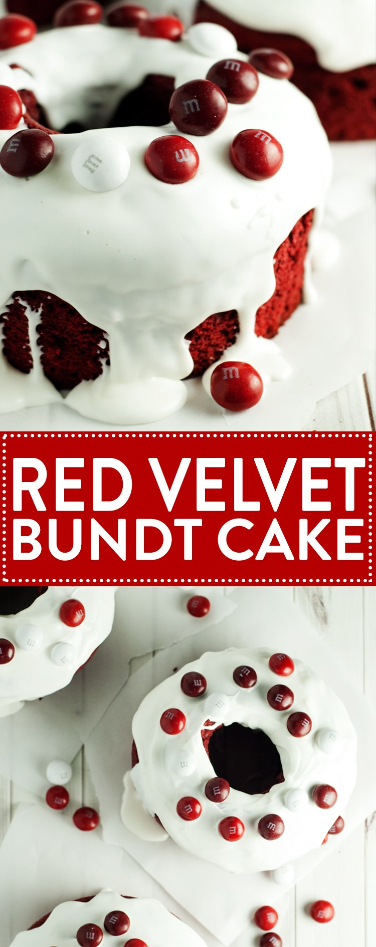 Share the love with a delicious and easy Mini Red Velvet Bundt Cake! | asimplepantry.com