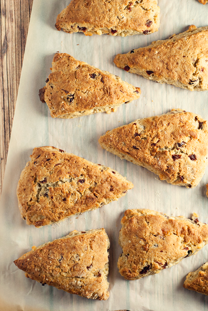 Coffee isn't complete without these white chocolate cherry scones! Delicious and easy!