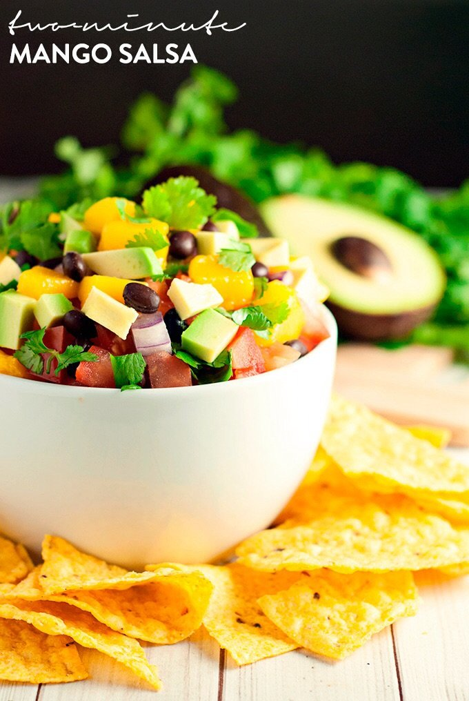 Spice up your life with this incredibly delicious two-minute mango salsa! Time to party!