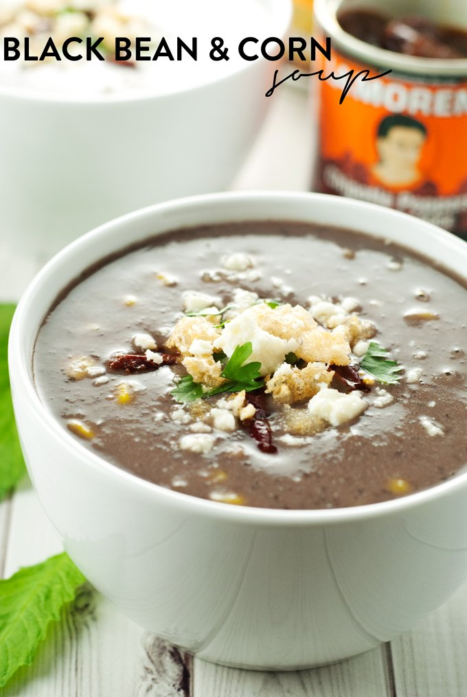 Black Bean & Corn Soup | asimplepantry.com