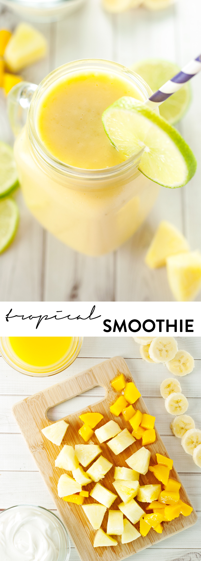 Tropical Smoothie Recipe | asimplepantry.com