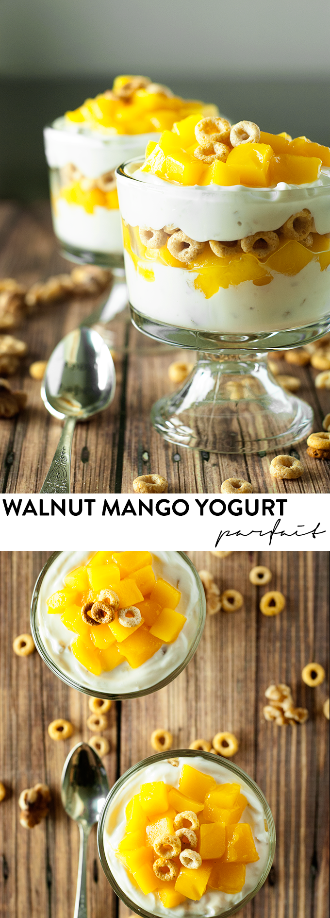 Breakfast just got better with this Walnut Mango Yogurt Parfait!