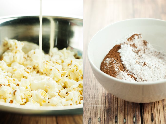 Mexican Churro Popcorn Recipe | asimplepantry.com
