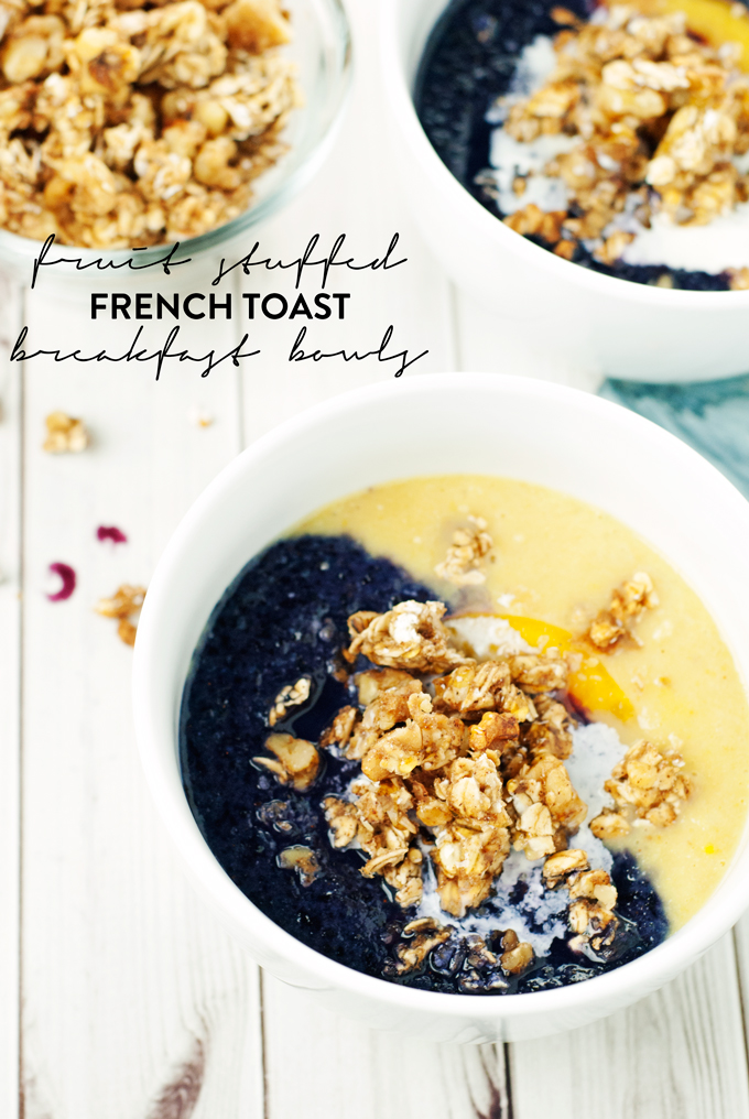 Fruit Stuffed French Toast Breakfast Bowls | asimplepantry.com