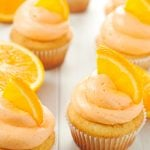 Orange Creamsicle Cupcakes with Vanilla Buttercream Frosting | asimplepantry.com