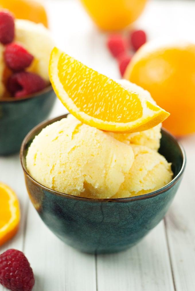 Orange Sherbet Recipe   asimplepantry.com
