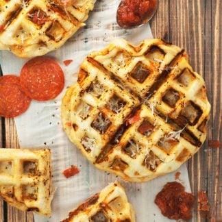 Pepperoni Pizza Waffles | asimplepantry.com