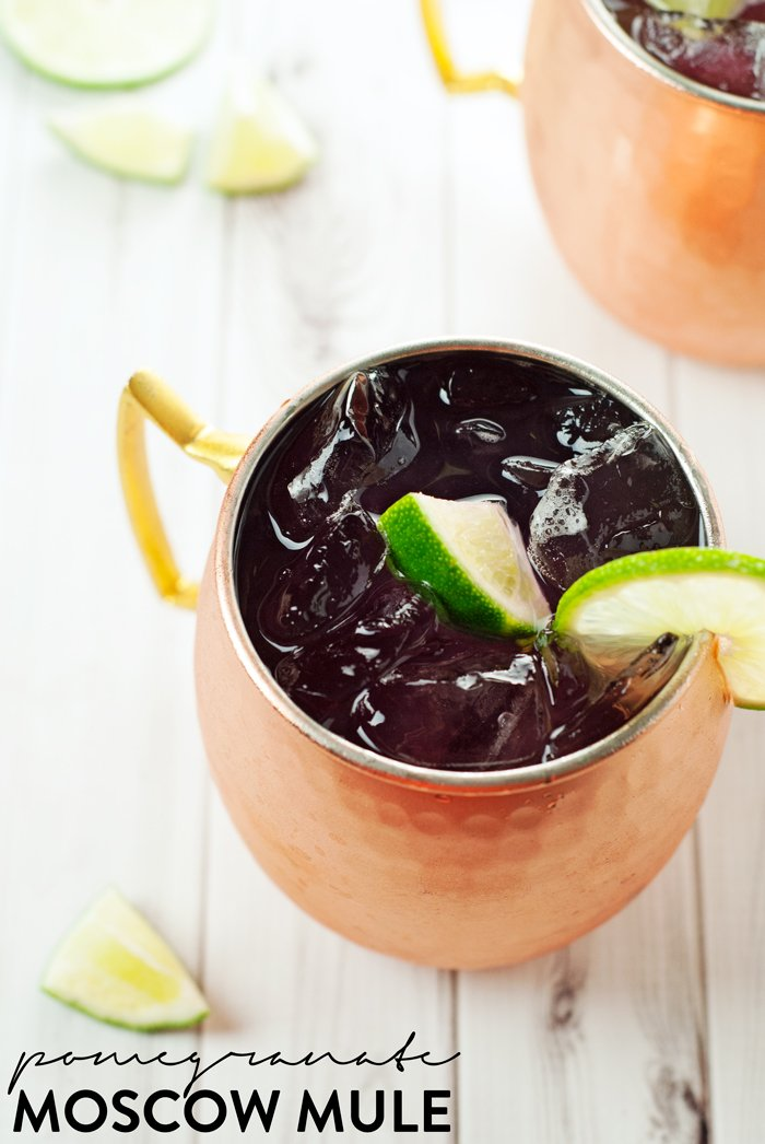 Pomegranate Moscow Mule | asimplepantry.com
