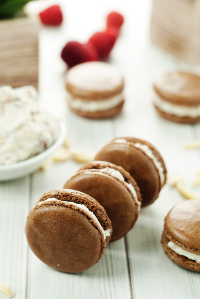 SNICKERS Macarons | asimplepantry.com
