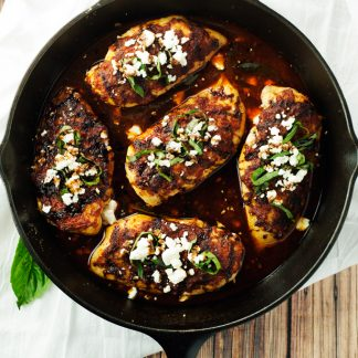 Sun-Dried Tomato and Basil Baked Chicken | asimplepantry.com