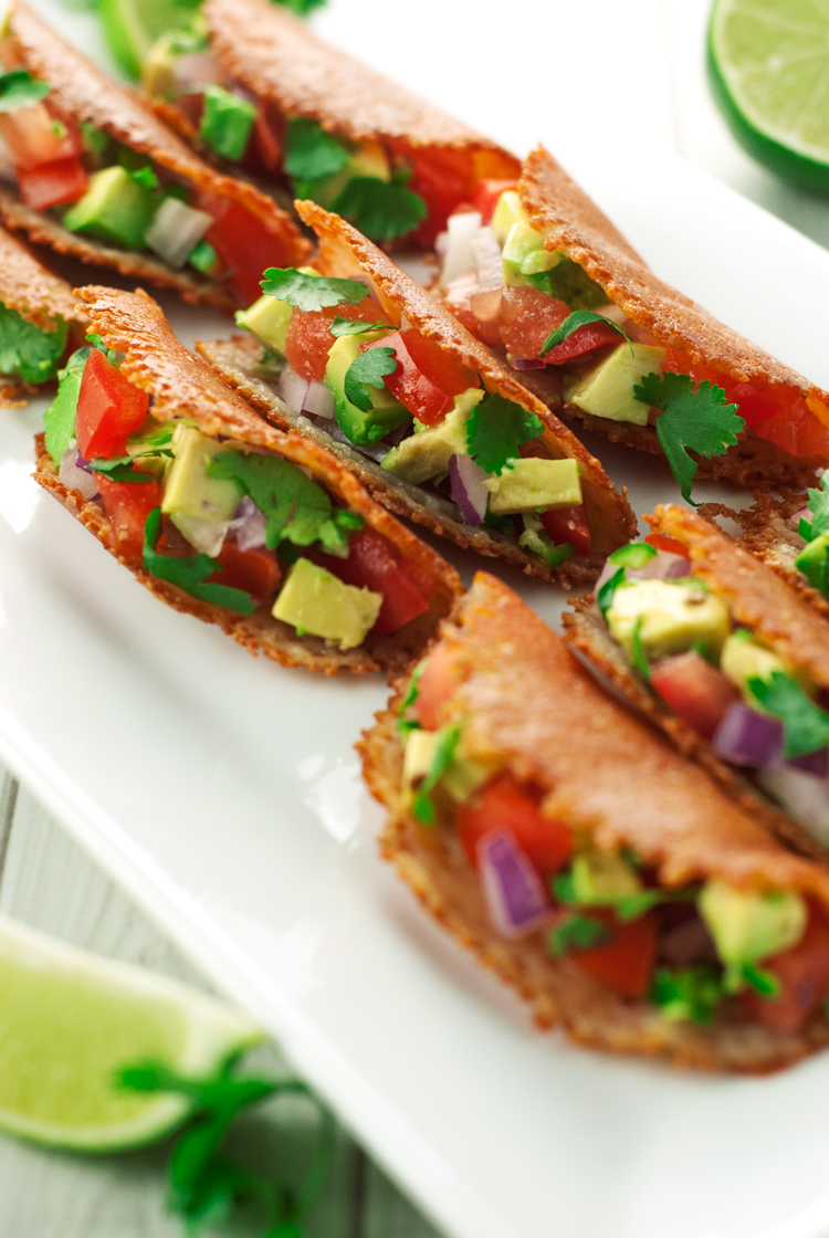 Cheese Tuiles with Avocado Pico De Gallo | asimplepantry.com