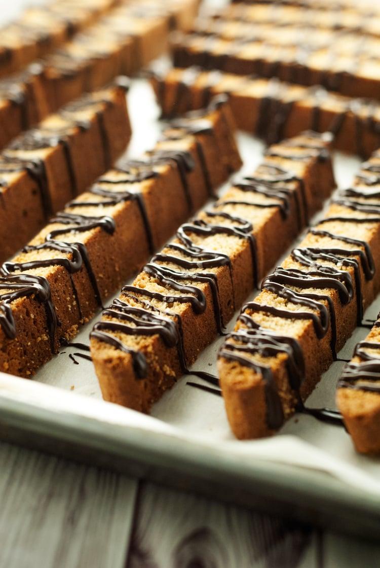 Dark Chocolate Salted Caramel Biscotti   asimplepantry.com