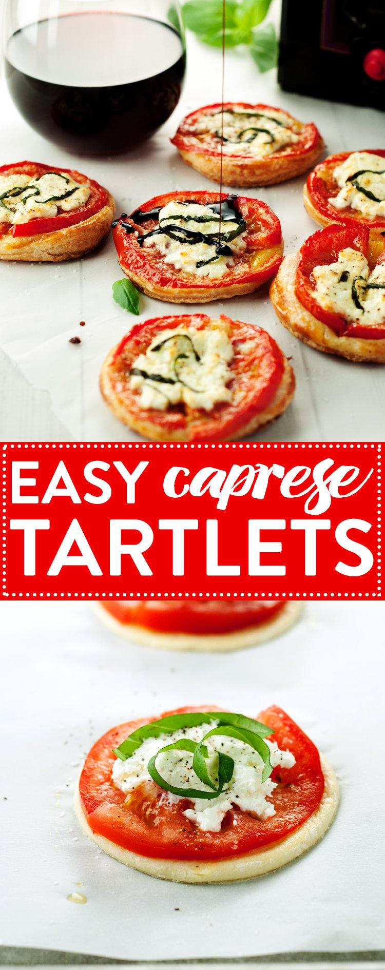 Easy Caprese Tartlets   asimplepantry.com