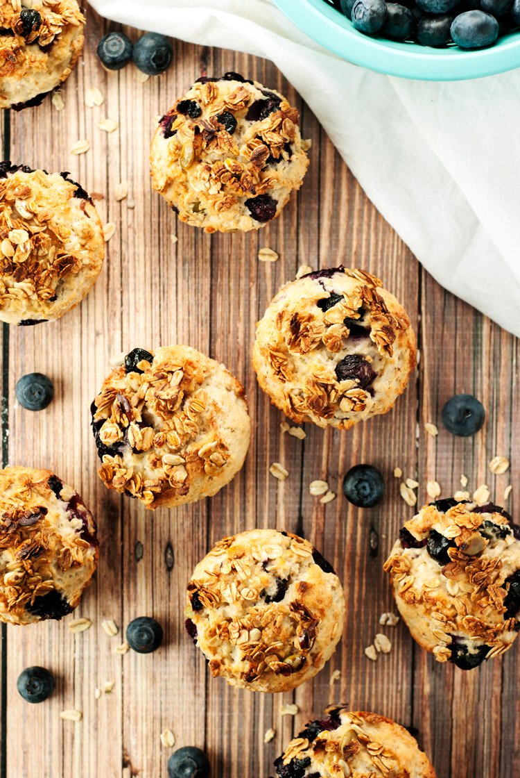 Muesli Blueberry Muffins Recipe | asimplepantry.com