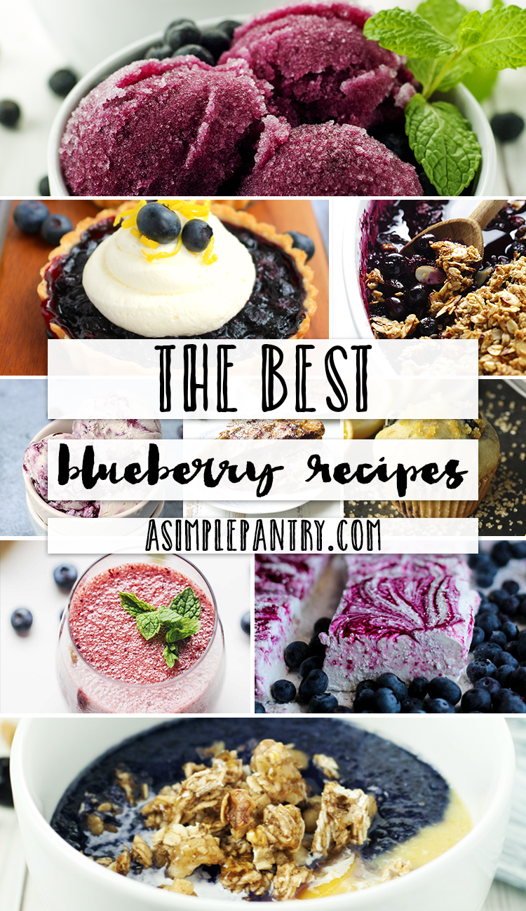 The Best Blueberry Recipes | asimplepantry.com