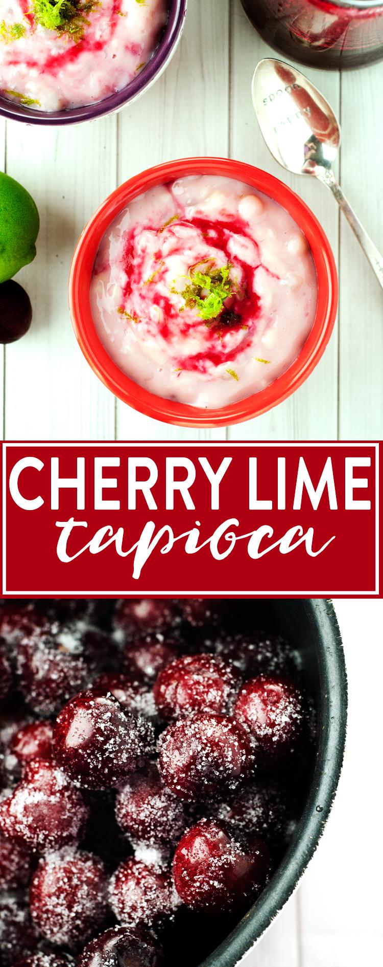 Cherry Lime Tapioca | asimplepantry.com