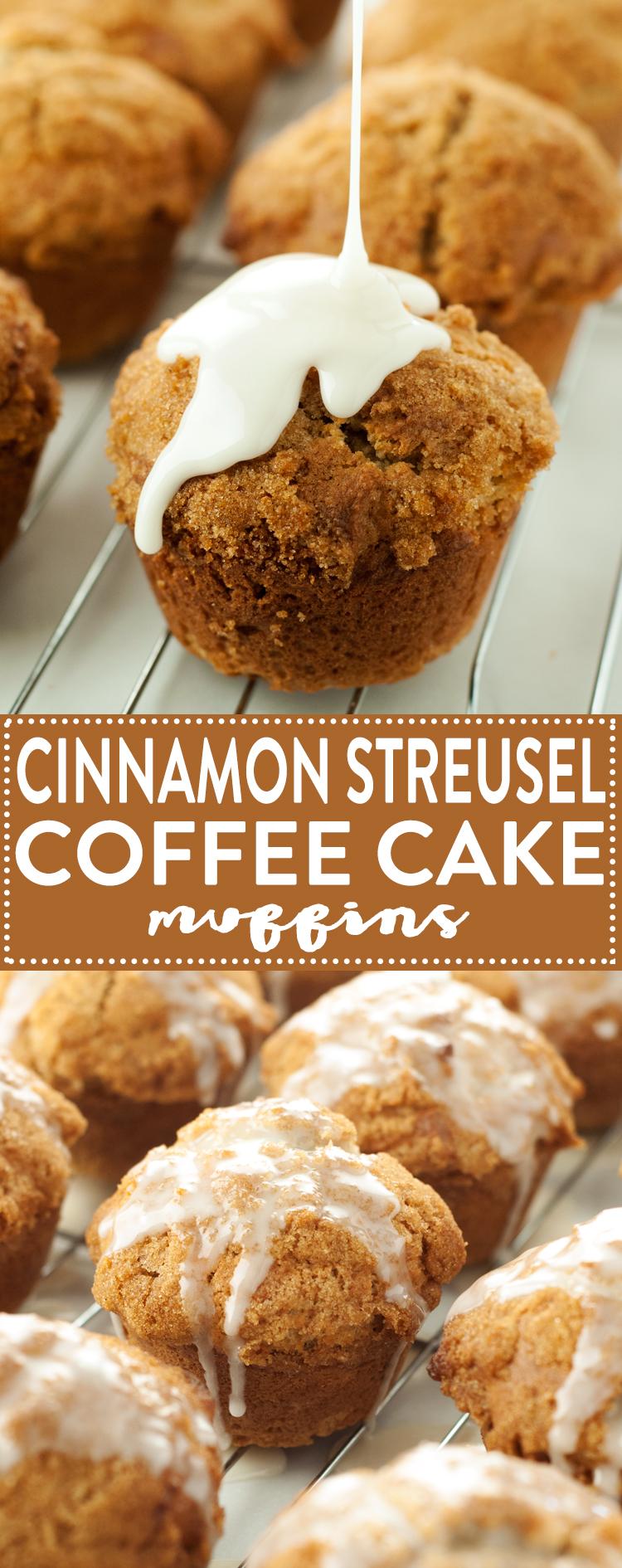 Cinnamon Streusel Coffee Cake Muffins | asimplepantry.com